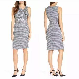 Harper Rose Asymmetrical Tweed Sheath Dress